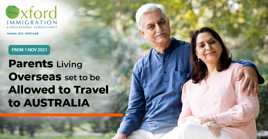 Parents Living Overseas Set To Be Allowed to Travel to Australia