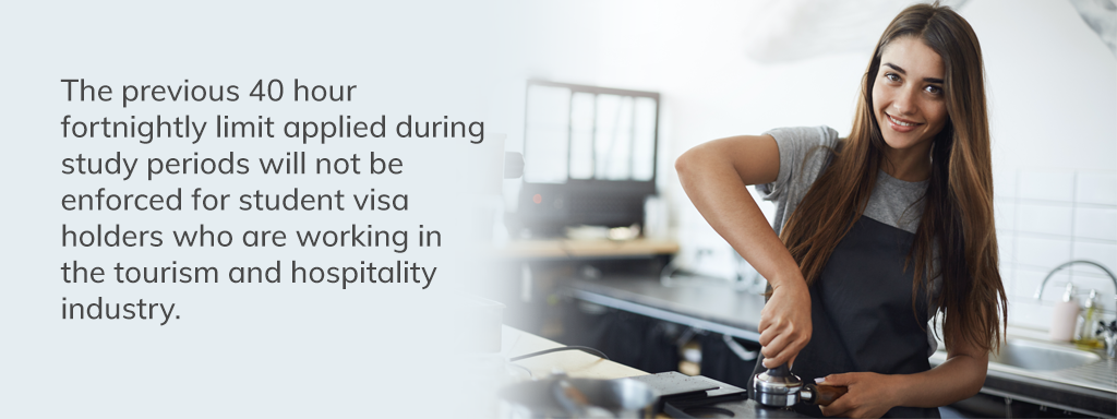 Tourism & Hospitality Student Visa Work Rights